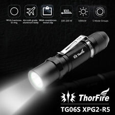 ThorFire Tg06s Upgrade 5 Modes LED Tactical Flashlight Torch Cap Light Strobe