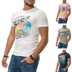 Jack-amp-Jones-T-Shirt-Hommes-Print-Shirt-Homme-Shirt-Manches-Courtes-Shirt-Top-SALE