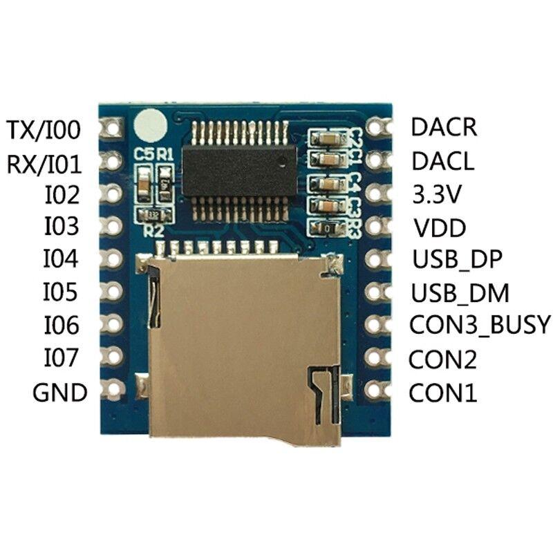 Sprachmodul MP3 Sound Audio Player TF Karte WTV020-SD-16P für Arduino  ^