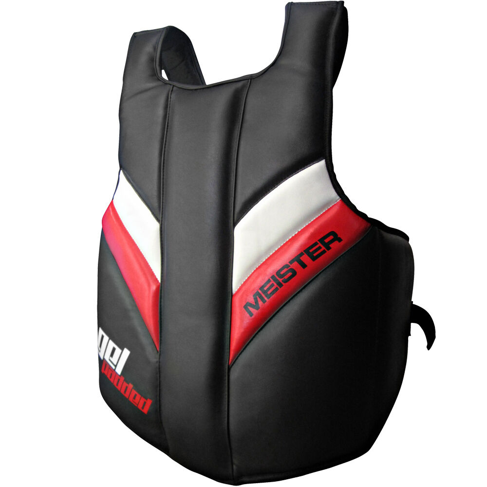 MEISTER FULL TORSO CHEST GUARD GEL PADDED - Body Predector MMA Boxing Belly Pad