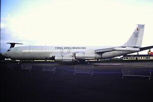 4-514-2-Boeing-KC-137-Stratotanker-Brazilian-Air-Force-FAB-2403-Kodachrome-SLIDE