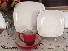 Item 2 Noritake 4pc Colorwave Square Place Setting Raspberry Dinnerware Set New In Box