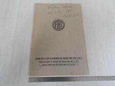 ALBUM PARTI DI RICAMBIO ORIGINALE 1927 CHASSIS FIAT 505F 507F 505 F 507 F