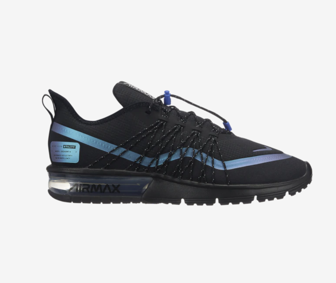 New Nike Air Max Sequent 4 Utility Black Racer bluee  V3236005 Throwback Future