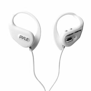 New Pyle PWBH18WT Waterproof Bluetooth Streaming Headphones w/Built-in Mic White