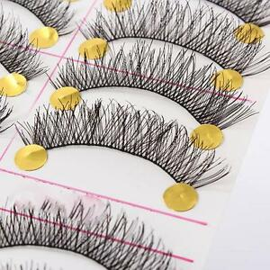 10-Pairs-Handmade-Natural-Thick-False-Eyelashes-Eye-Lashes-Long-Soft-Makeup-Blk