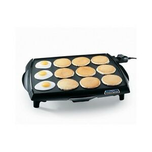 Electric Pancake Griddle Large Indoor Grill Steak Food Countertop ...