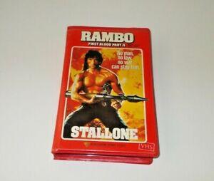 Rambo-2-VHS-Pal-Roadshow-Big-box-ex-rental-Original-case-Stallone
