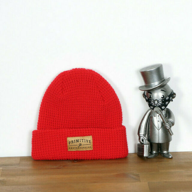 Primitive Skate Skateboards Beanie Mütze Hat Core Logo Red P-Rod