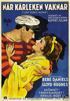 Love comes along Bebe Daniels vintage movie poster