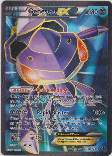 Pokemon XY Fates Collide Genesect-EX - 120/124 - Full Art Ultra Rare
