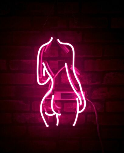 "Live Nudes Beauty Back Butt Pole Girl Acrylic Neon Sign 20/"" Light Lamp Beer Bar"