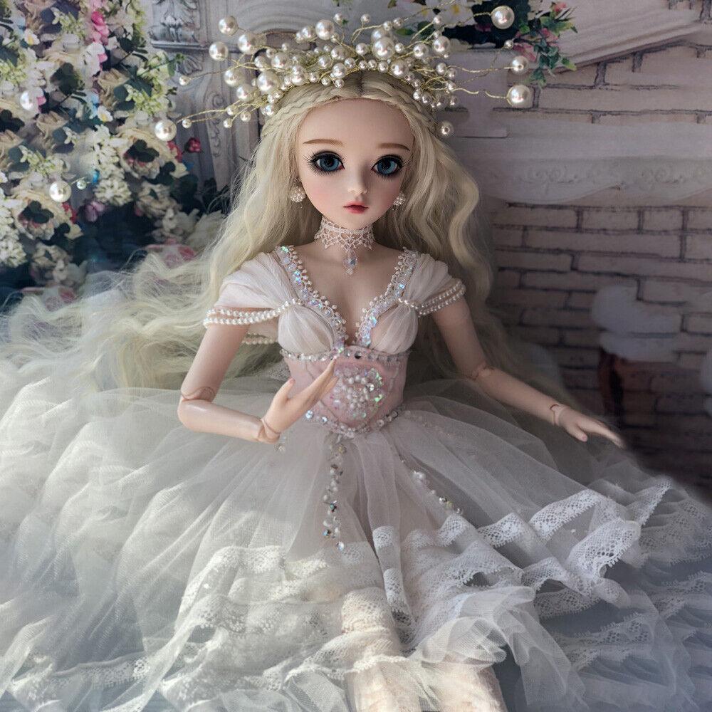 Sexy mujeres 1 3 bjd Doll muñecas Jointed novia Eyes make up Wig regalo de bodas
