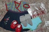 American Girl Doll Bitty Twins Girl Playdate Outfit Denim Dress Socks Shoes