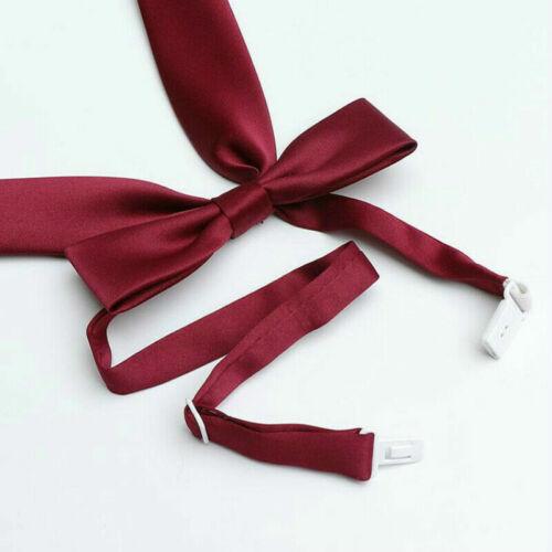 Girls Japanese JK Uniform Lolita Bow Tie Cosplay Neck Tie Ribbon Adjustable