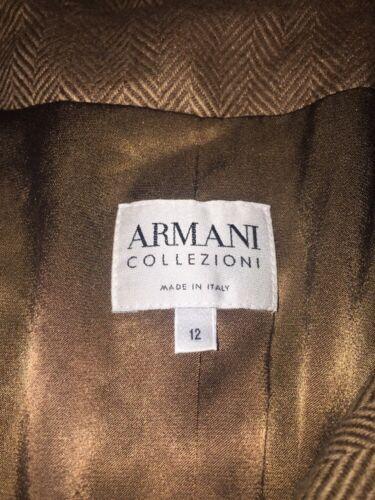 Armani 100 Jakke 12 Samlinger Tan Giorgio Women's Camel Blazer dwxTTqZ