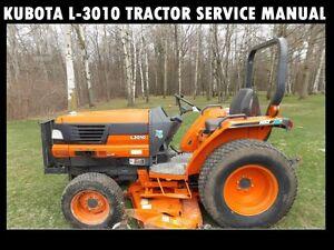 KUBOTA-L3010-WORKSHOP-SERVICE-MANUAL-680pg-w-L-3010-Tractor-Rebuilding-amp-Repair