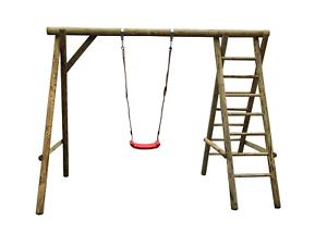 Klettergerüst Rundholz : Einzelschaukel klettergerüst mit schaukel montagematerial aus