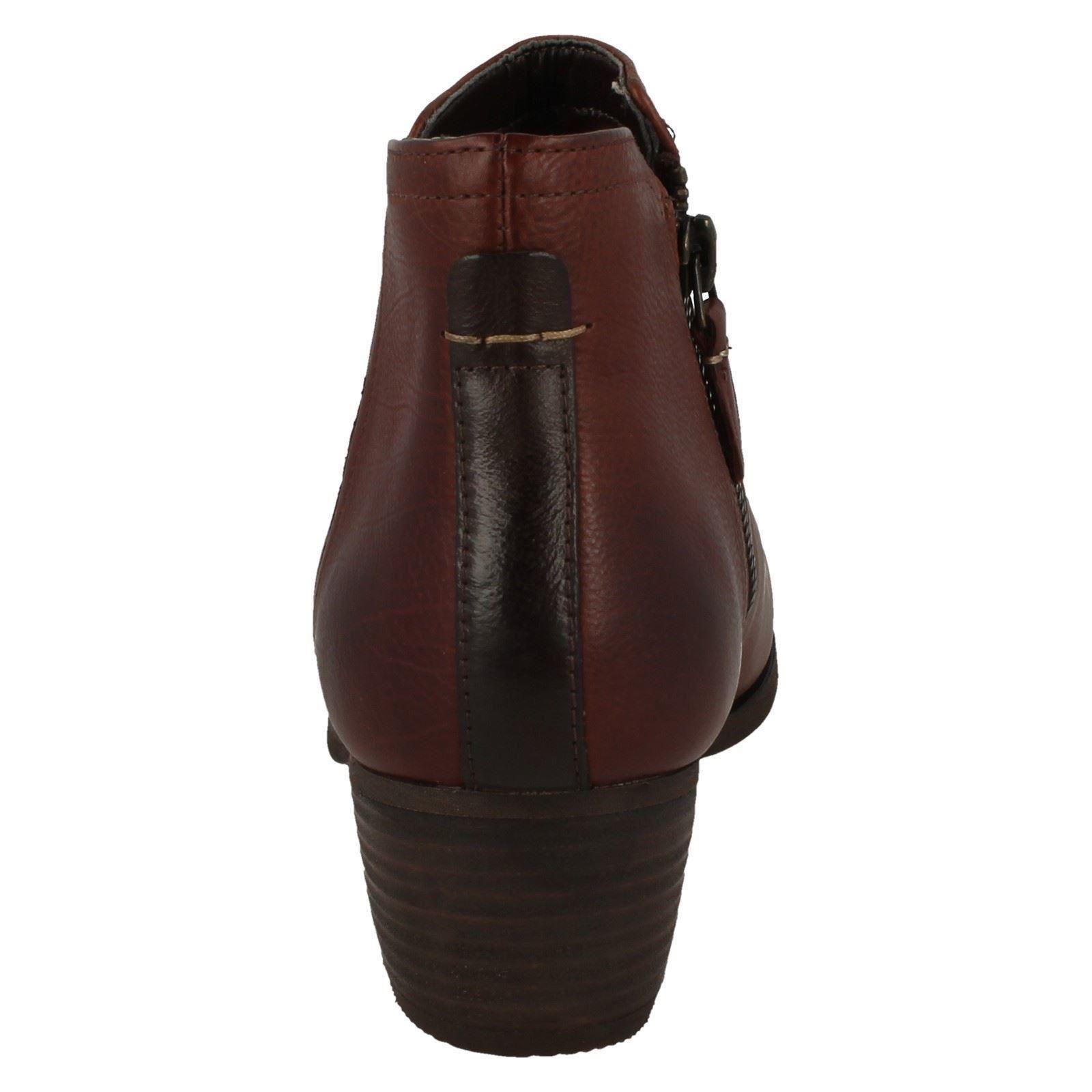 Femmes Clarks Cuir Petit Petit Petit Talon Bottes Chelsea Chaussures Fermeture Éclair bc64fd