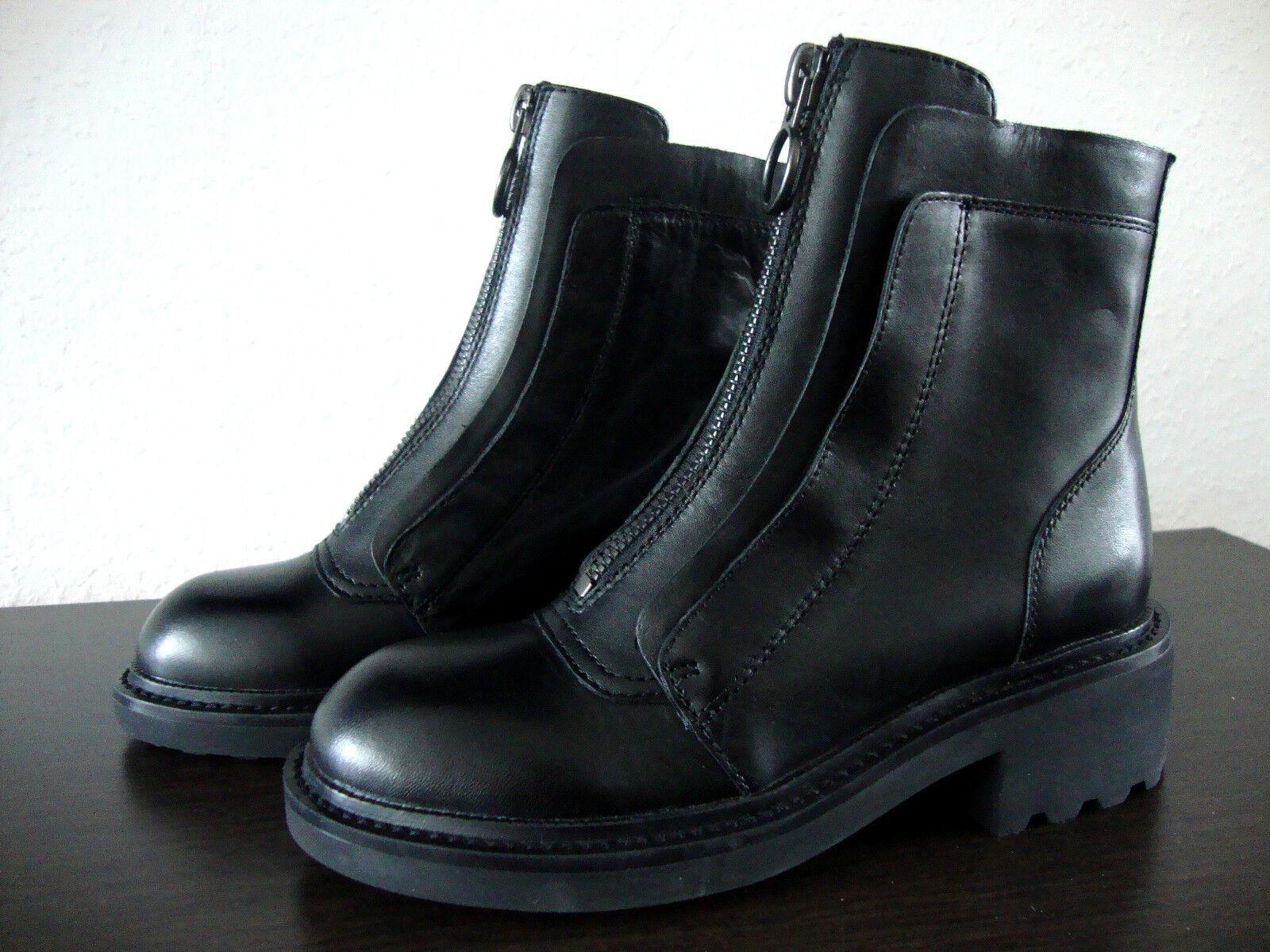 ASH SPACE Stiefel Damen Stiefelette Schuhe Ankle Stiefel Stiefel Leder Schuhe Stiefelette Gr.36 NEU 475857