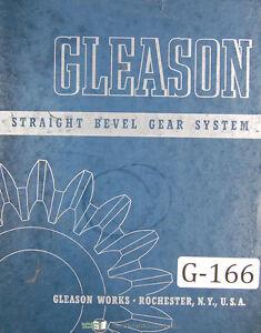gleason straight bevel gear system tooth porportions manual 1942 ebay rh ebay com Plastic Bevel Gears Hypoid Bevel Gears