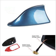 Blue Universal Car SUV Roof AM/FM RV Radio Aerial Signal Shark Fin Shape Antenna