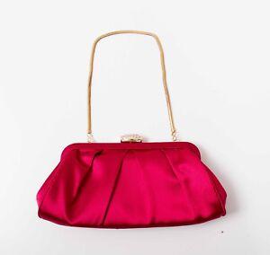 Pink Satin Clutch Bag Evening Purse