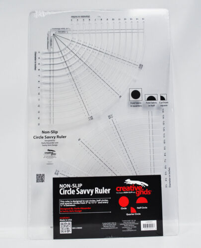 Creative Grids Circle Savvy 1134in x 1812in Quilt Ruler