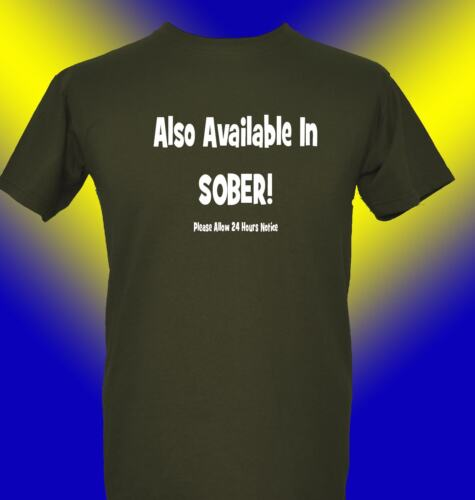 Drink Sober Drunk Funny T-Shirt Party  Also Available Sober Booze Stag Drinking