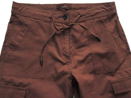 Nouveau Débardeur marron PROCHAINE RÉCOLTE Pantalon Taille 18 16 14 12 10 Long régulier RRP £ 30
