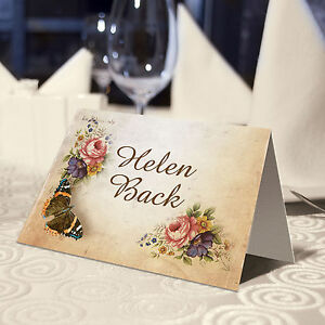 victoriana vintage place name cards personalised or blank ebay