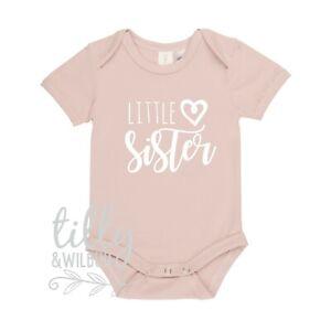 0493617cb5688 Image is loading Little-Sister-Bodysuit-Little-Sister-Outfit-Newborn-Girl-