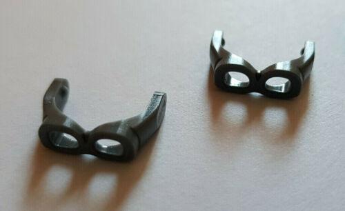 minifigur Accessoires Lego ® 2 x 30170 Lunettes Gris Foncé 6170695 #sw58
