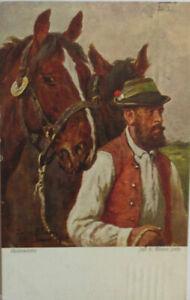 034-Tiere-Pferd-Foerster-Bauer-034-1918-Heimwaerts-gemalt-Jul-v-Blass