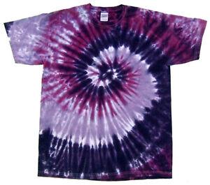 Multi-Color-Tie-Dye-T-Shirt-Adult-S-M-L-XL-2XL-3XL-4XL-5XL-100-Cotton-Gildan