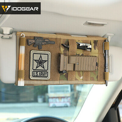 Idogear Tactical Molle Vehicle Visor Panel Car Sun Visor Organizer Holder Gear Ebay