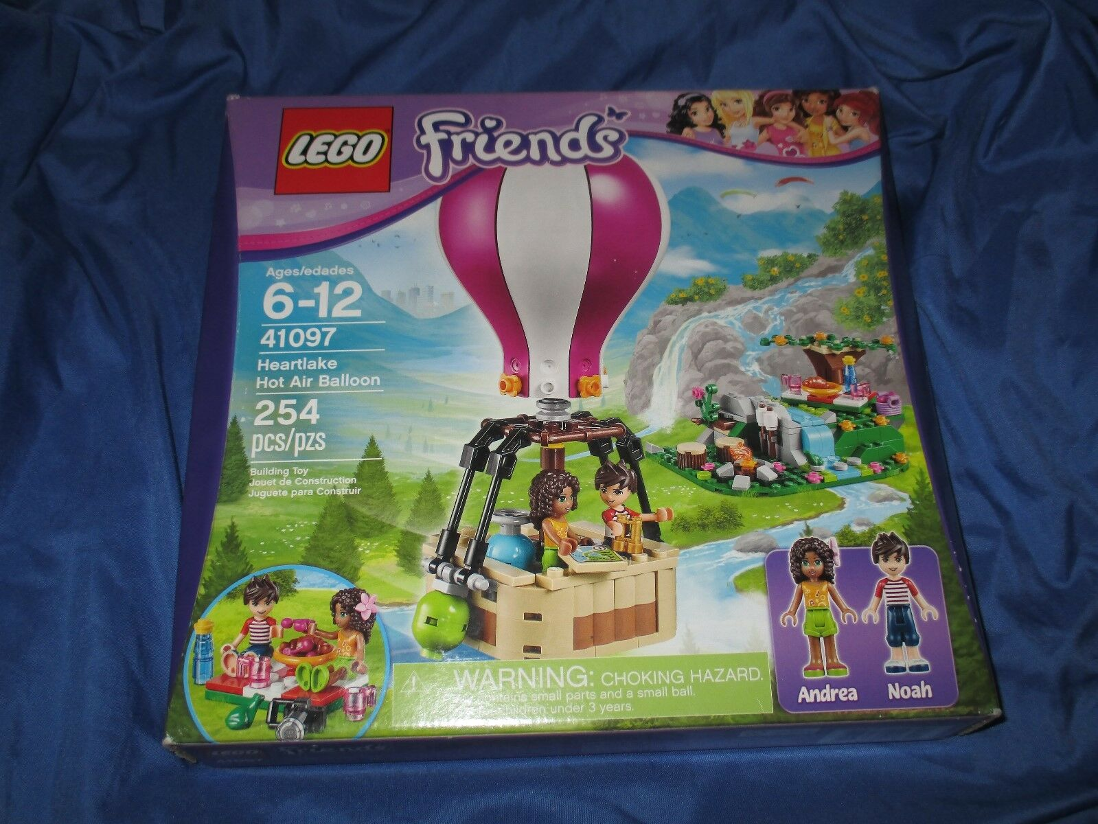 HEARTLAKE HOT AIR BALLOON Friends Lego Set w Noah Noah Noah Andrea Minifigure  NEW ba846b