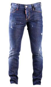 Caricamento dell immagine in corso DSQUARED2-Pantaloni-Uomo-Jeans-S74LB0269- Col-470-Blu- 7420e4f9cb9e