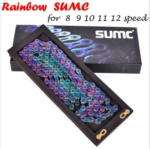 SUMC Bike Colorful Chain 9//10//11Speed 116-Links for Road MTB Bike Coating Chains