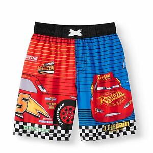 990502b5d8 Image is loading Disney-Cars-Lightning-McQueen-Swim-Trunks-Shorts-Boy-