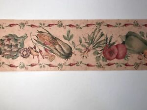 Details about York Wallpaper Border Kitchen Farm Market Vegetables Hot  Peppers TJ9124B 5 Yds