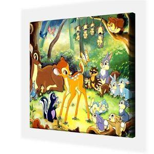 Classique-Disney-Bambi-Canvas-Photo-10-034-x-10-034-seulement-7-99