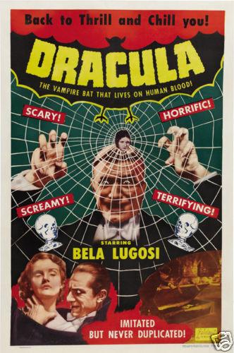 Dracula Bela Lugosi vintage movie poster print #31