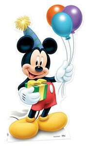 Mickey Mouse holding Balloons Party LIFESIZE CARDBOARD CUTOUT STANDUP Birthday | eBay