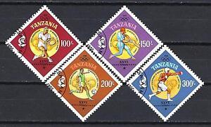 jo-Sommer-Tansania-38-Serie-komplette-mit-4-Briefmarken-entwertet