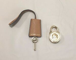 Image Is Loading Michael Kors Logo Gold Small Lock Amp Key