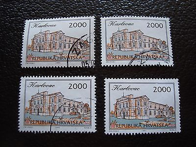 Efficient Croatia Stamp At All Costs Stamp Yvert And Tellier N° 195 X4 Obl a33
