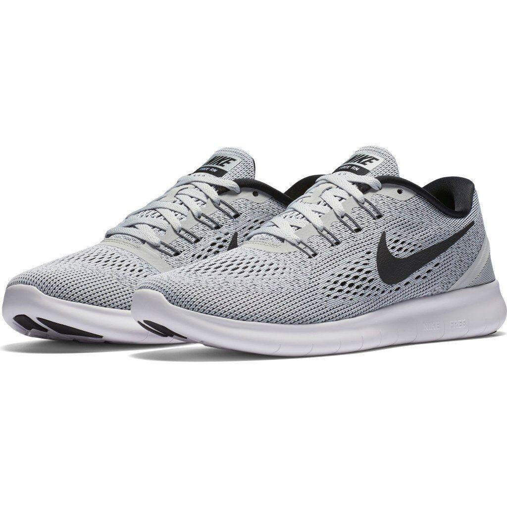 Nike Wouomo Free RN bianca nero 831509-101 Sz 5.5