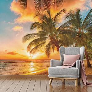 Details zu Wall Mural Photo Wallpaper Sunset Sunrise Sun SKY Ocean Sea  Beach Bedroom Living