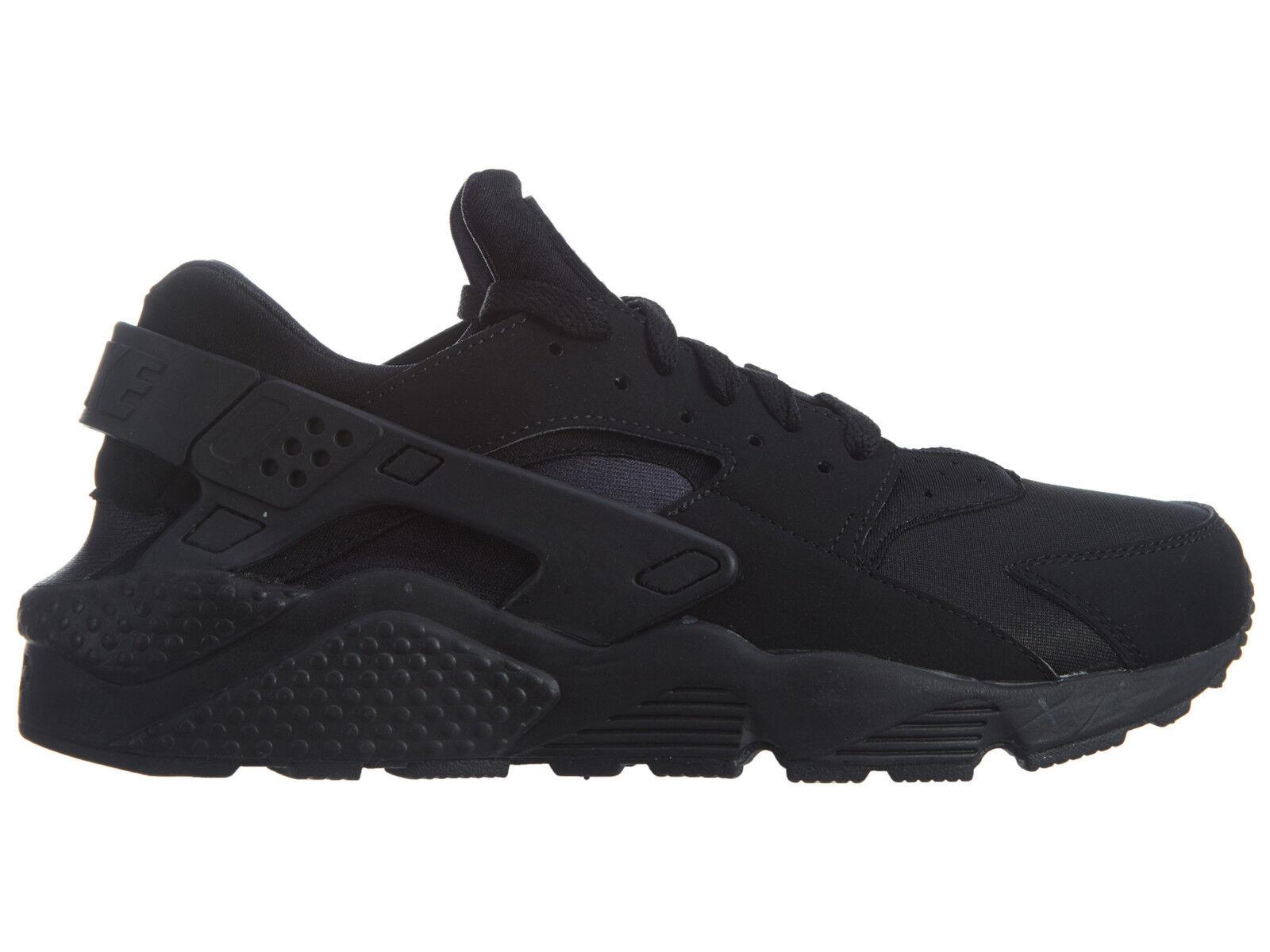Nike Air Athletic huarache hombre 318429-003 Negro Textile Athletic Air running zapatos cómodos 8da40b